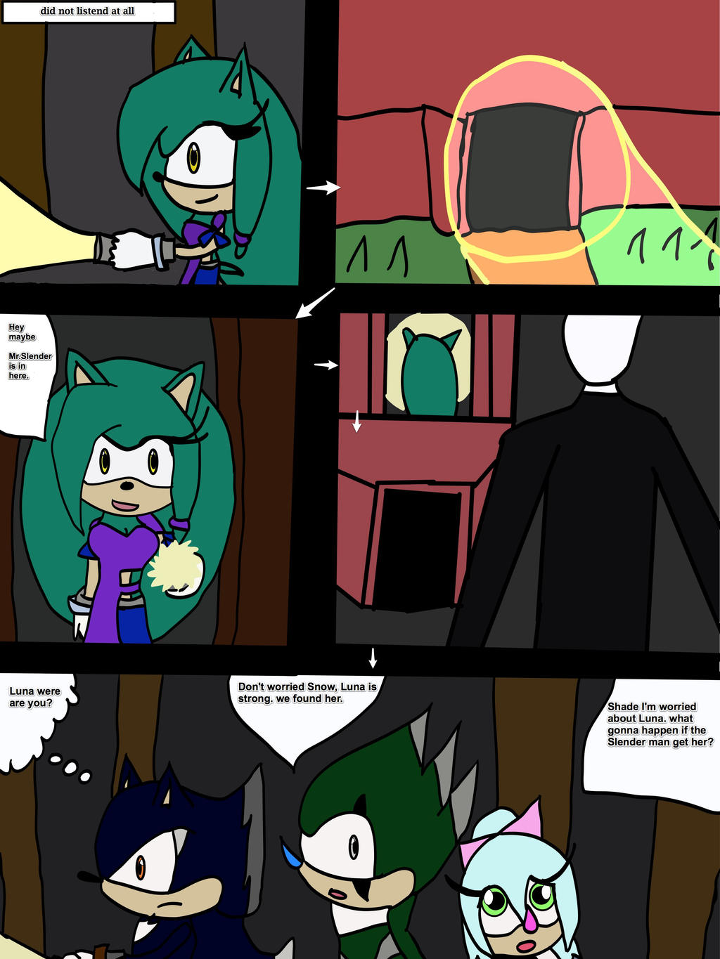 page 2 Luna meet Slender by cat55