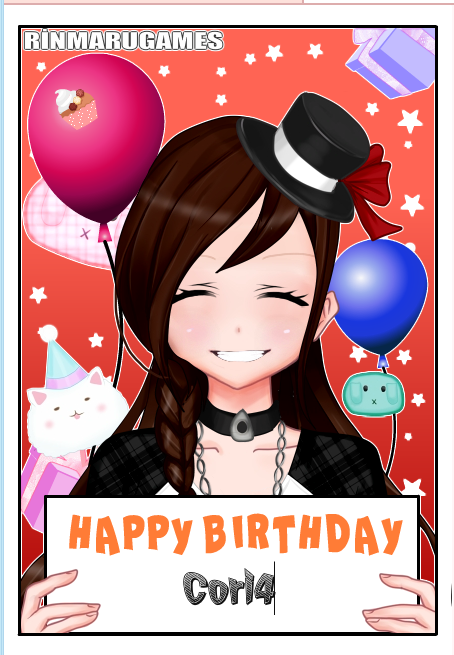 birthday card for my twin by cat55