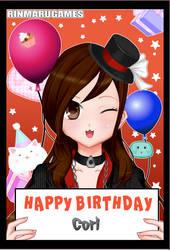 remake twin birthday card