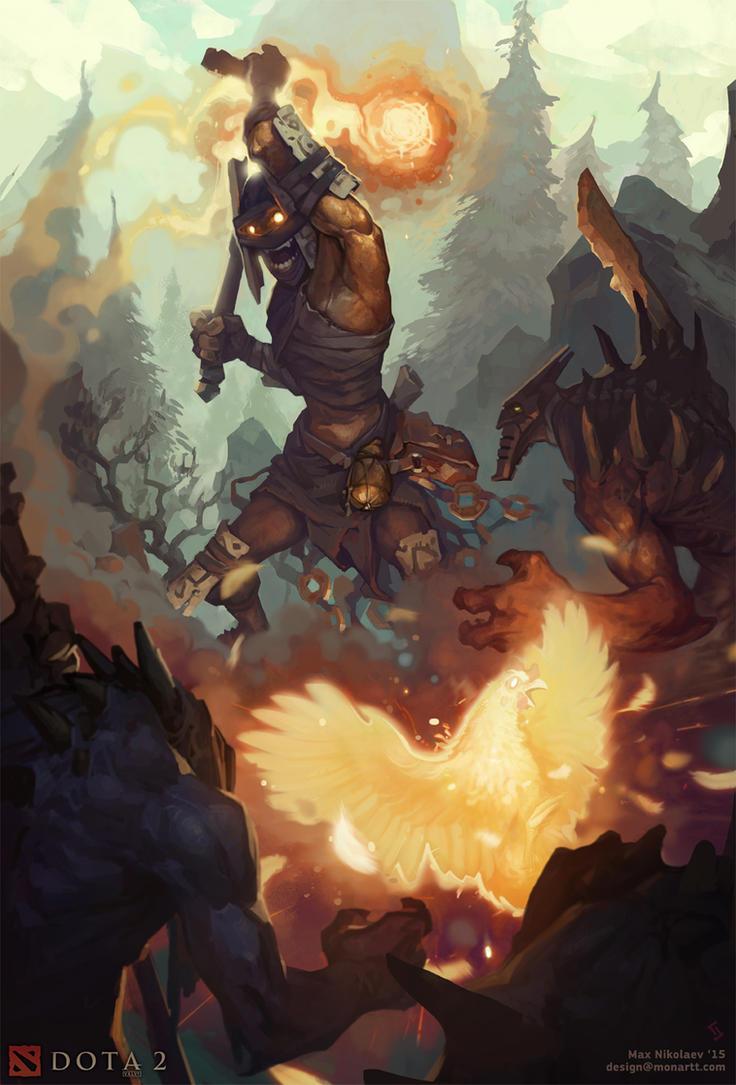 Shadow Shaman by monartt