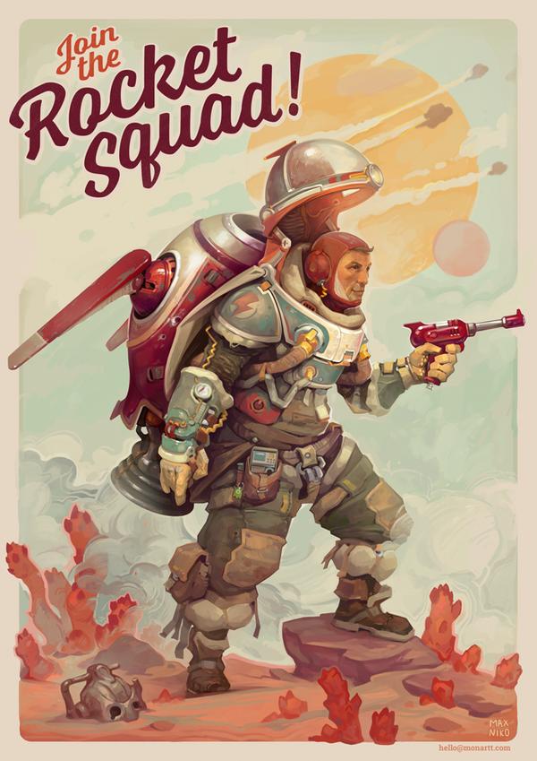 Rocket Squad by monartt