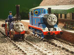 Thomas and Fergus on static display