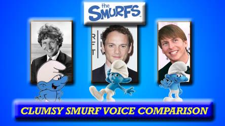 Clumsy Smurf Voice Comparison by SmurfyDan