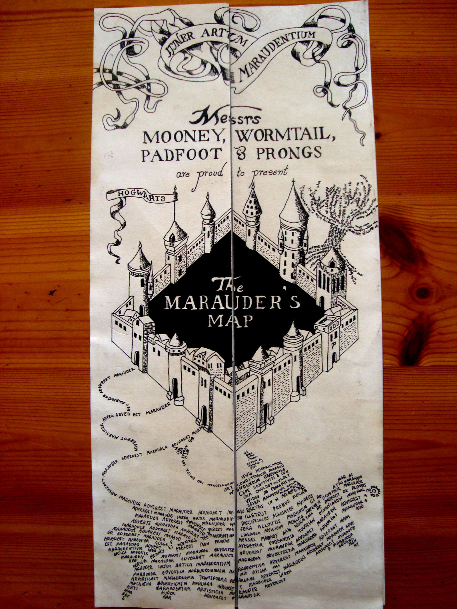 Pin by Cara Cooper on Harry Harry Harry | Hogwarts ... |Marauders Map Drawing