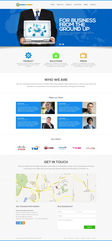 Extreme Broadband Web Mock-up by kodomodo