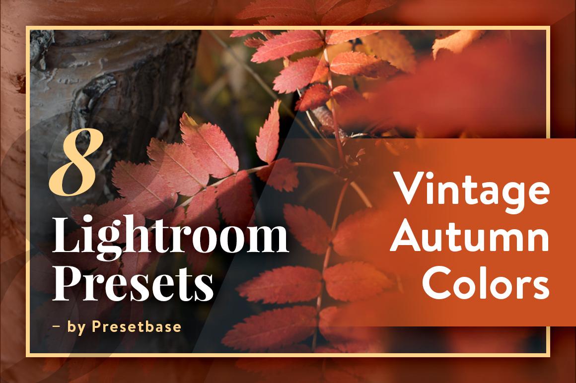 Vintage Autumn Colors (8 FREE Lightroom Presets) by
