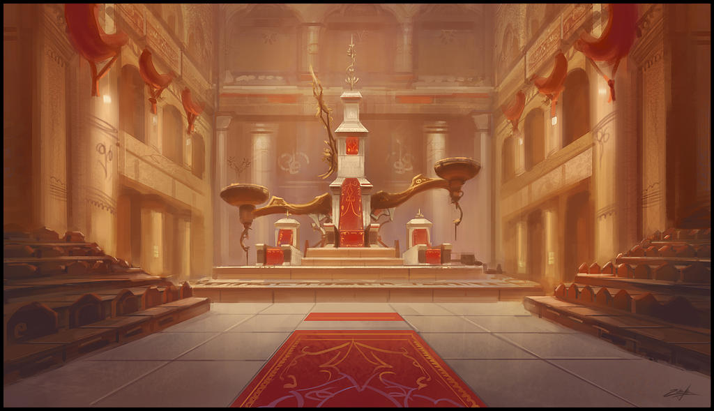 Throne room by Zoriy