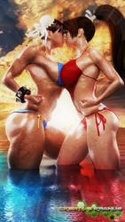 The Queen of Fighters: Swimsuit Edition by Creativeragnus