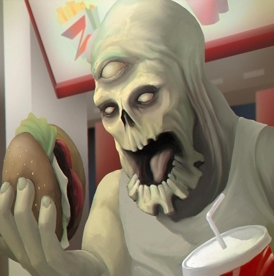 Zombie-fastfood by Kazlyan