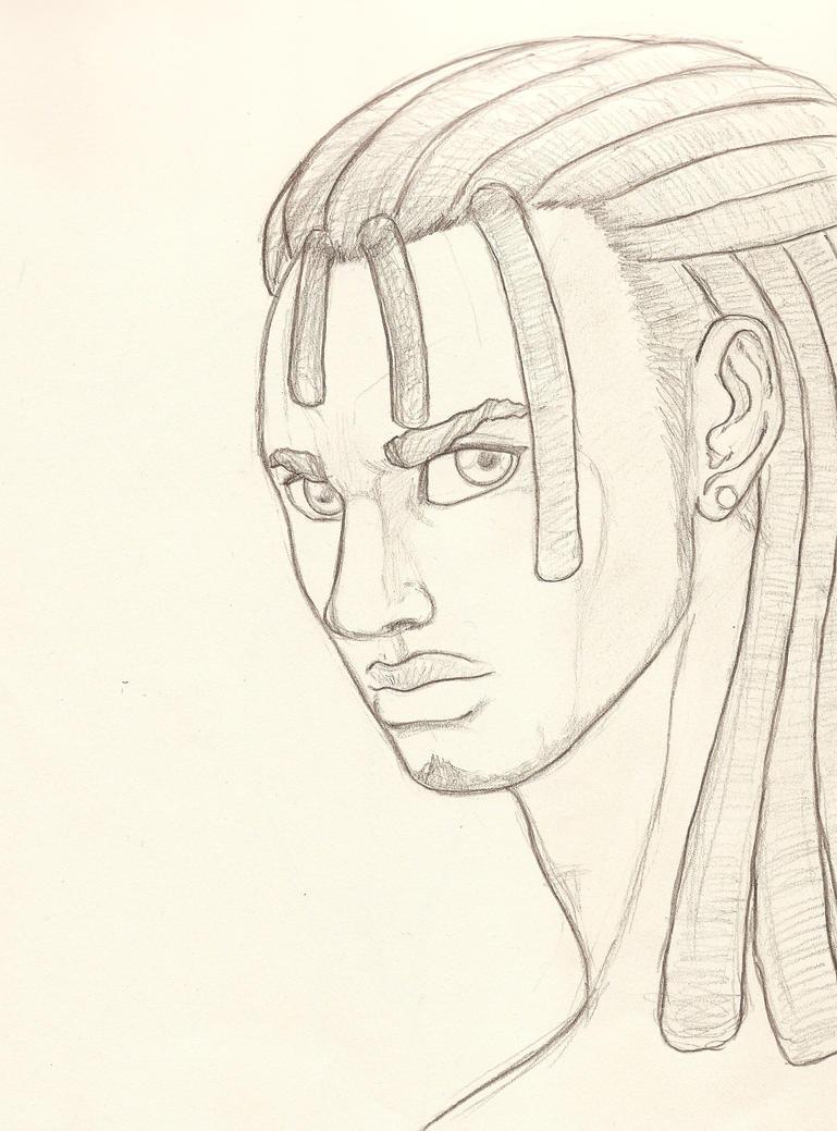 Man With Dreadlocks By Shangoo77