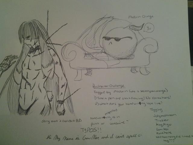 Pen/Marker Challenge aka Skipping on HW by CrowMoe