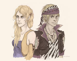 Celes and Locke by fashion-jerk