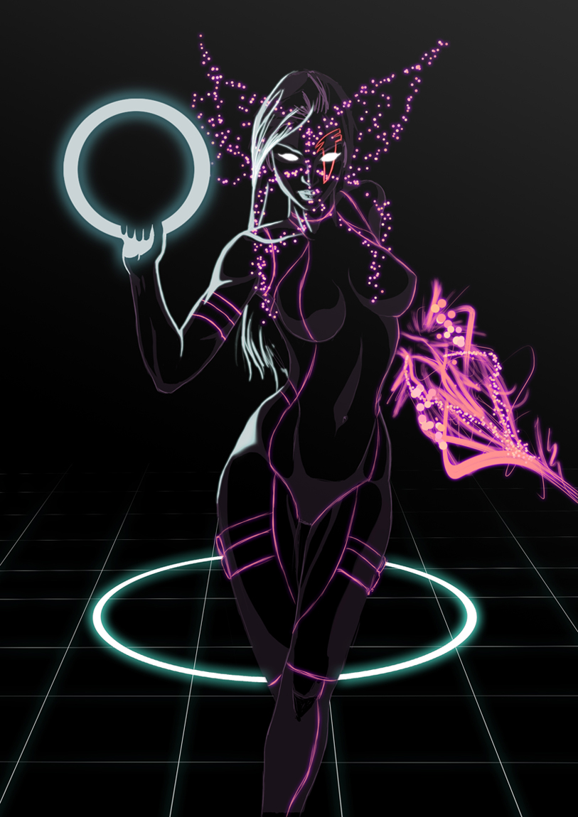 Psylocke Tron by UltimateTattts