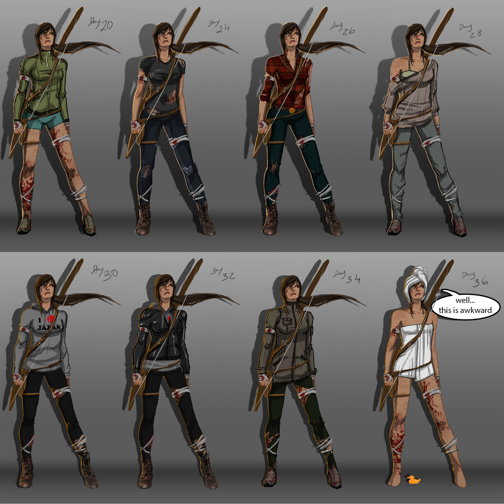 Lara Croft | Alternate Outfits by UltimateTattts