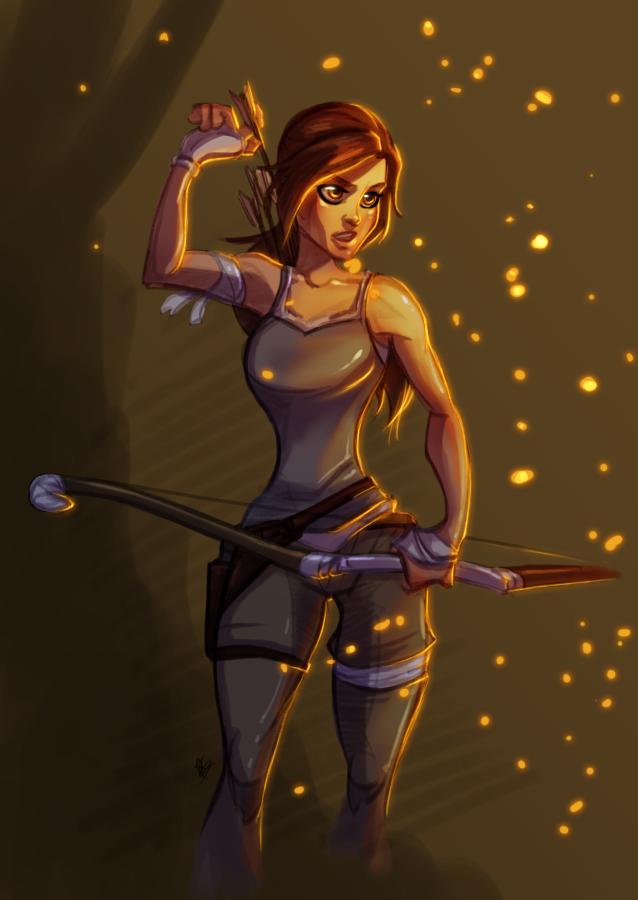 Sketch_Lara Croft By Thefenrir by UltimateTattts