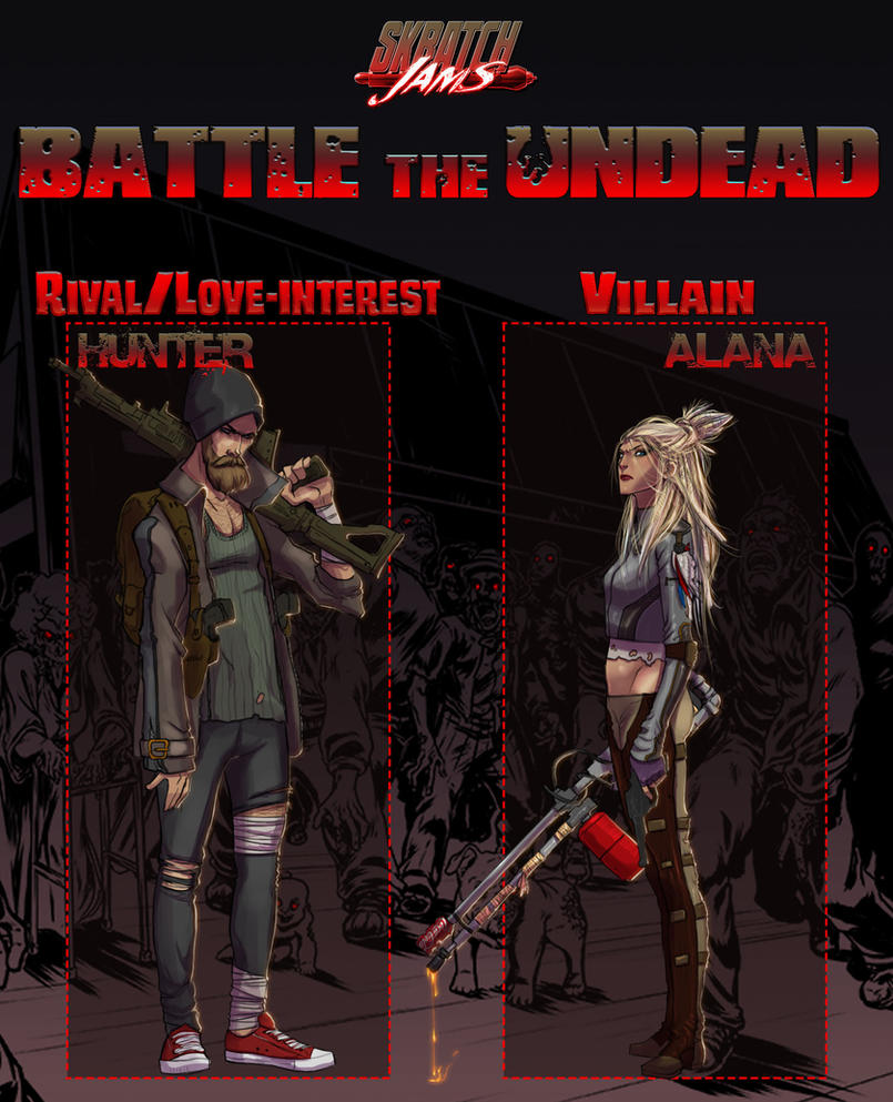 Battle The Undead Pt 2 | Hunter and Alana by UltimateTattts
