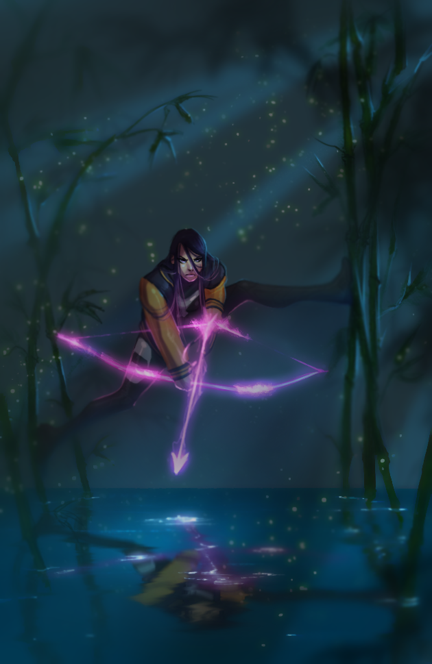 Psylocke and the fireflies by UltimateTattts