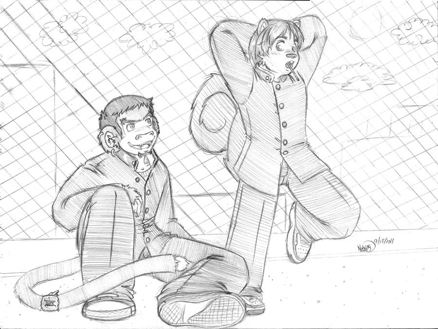 Like School Kids by Sarugami