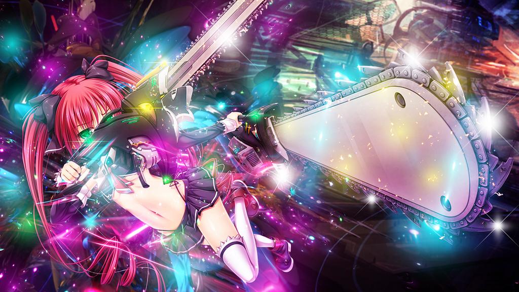 Anime Girl - Chainsaw by GinXen