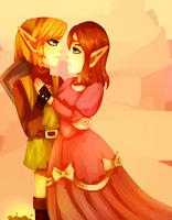 Zelda  And  Link  Tloz by eve-link02