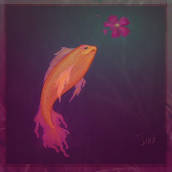 The Fish prince and the Cosmea by Sukeile