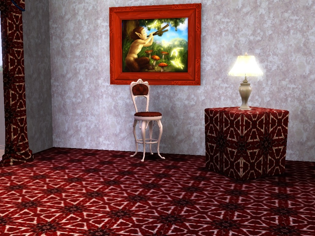 TS3-Red Floral Tiles by allison731
