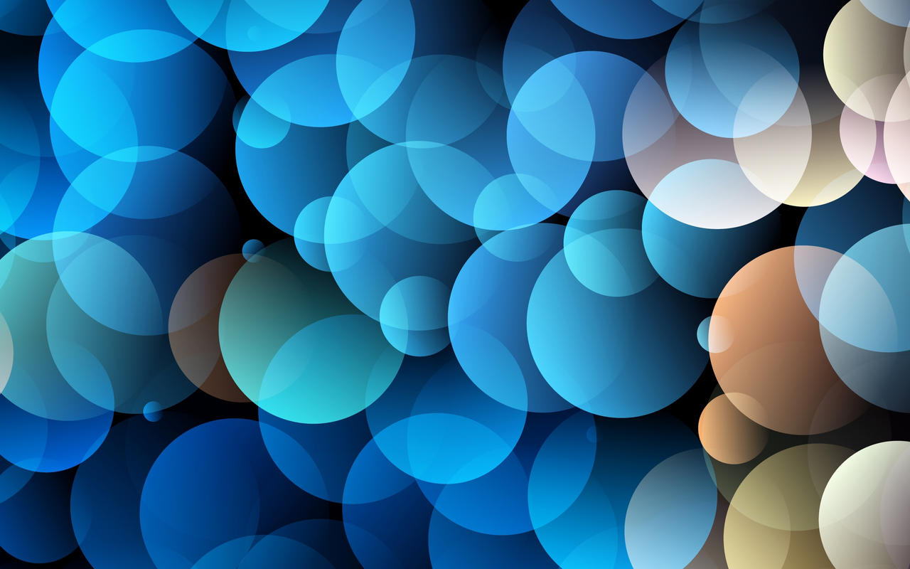 Blue Circles Wallpaper by allison731