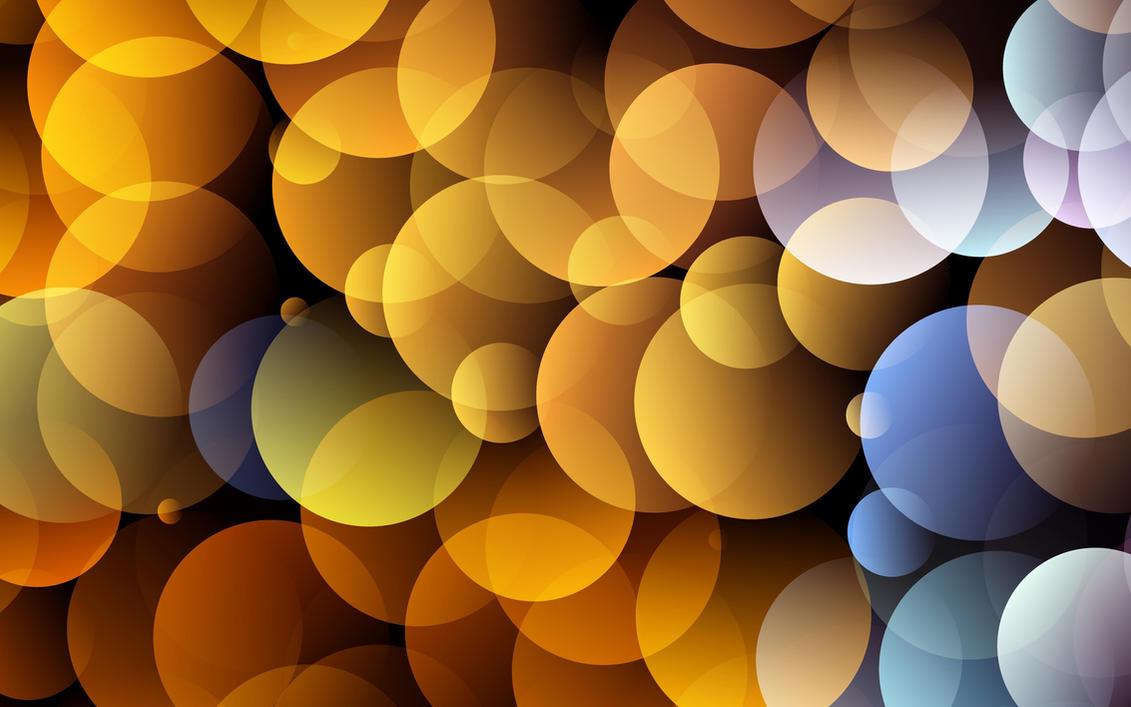 Gold Circles Wallpaper by allison731
