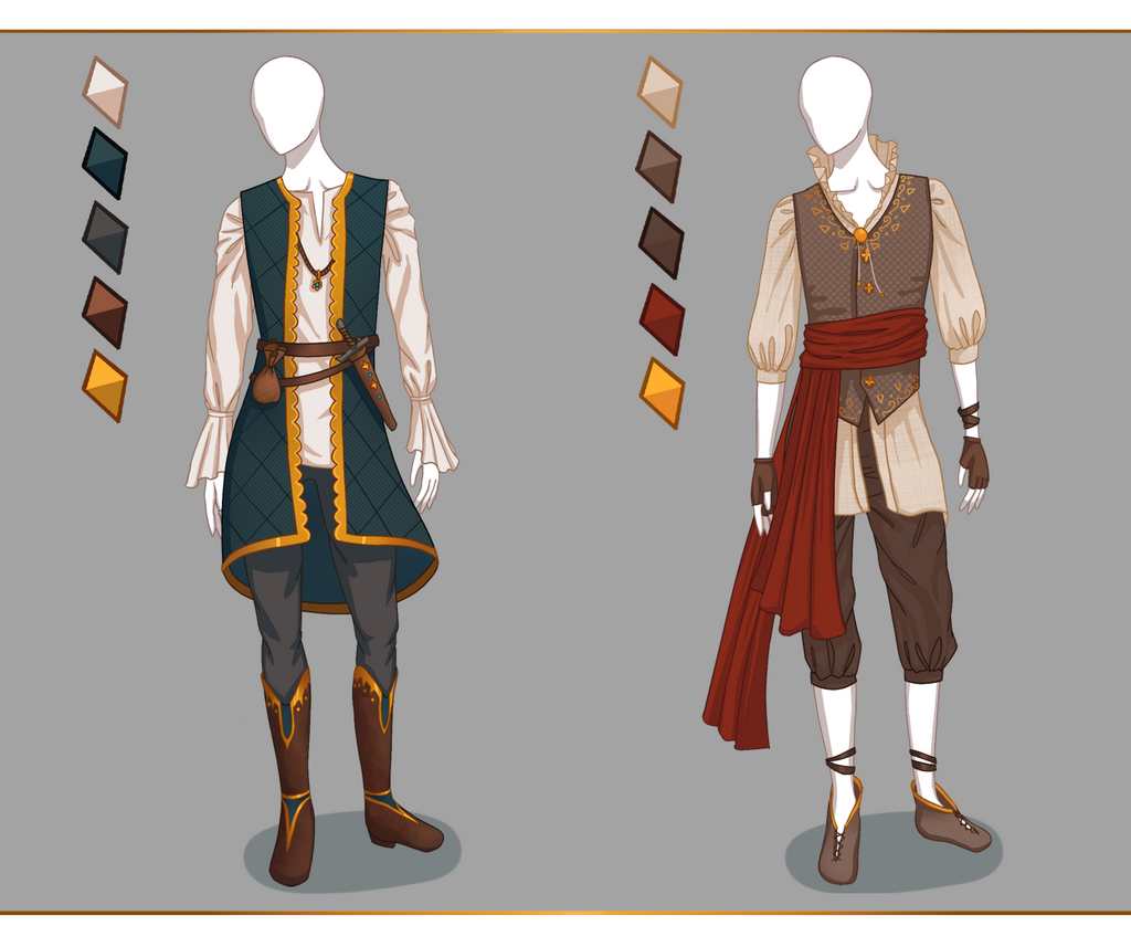 CLOSED Fashion Adoptables - Male Outfits #1 By Ayleidian On DeviantArt