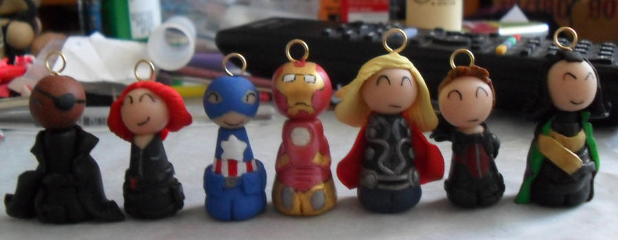 Avengers Charms Again by PsifiGirl
