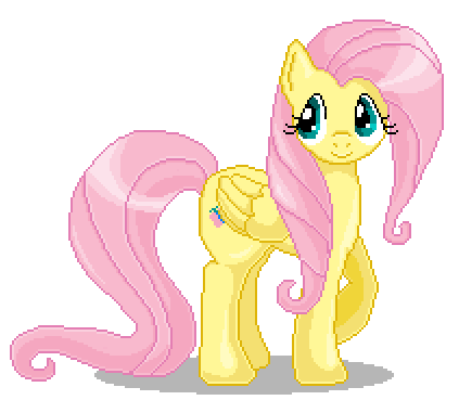 Fluttershy Pixel Art by catawump