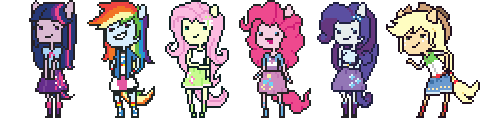 Equestria Girls Pixelings by catawump
