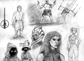 Star Wars Sketches by BFan1138