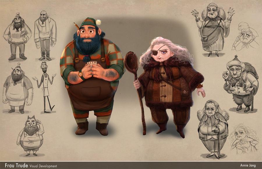 Mr. Walnut and Frau Trude by AnnieJang