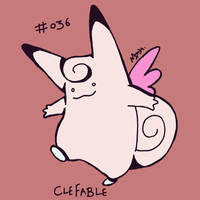 036 Clefable by toadcroaker