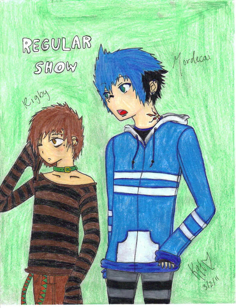Regular Show Human Drawings