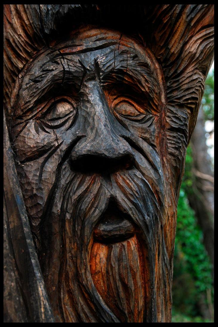 Bali tribal green man wood leaf mythological mask unique wall