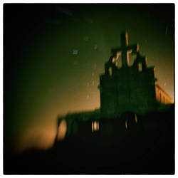 the leper church at night