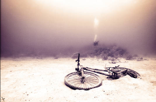 The sunken bike