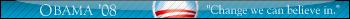 Obama '08 Userbar by FlameBlasted