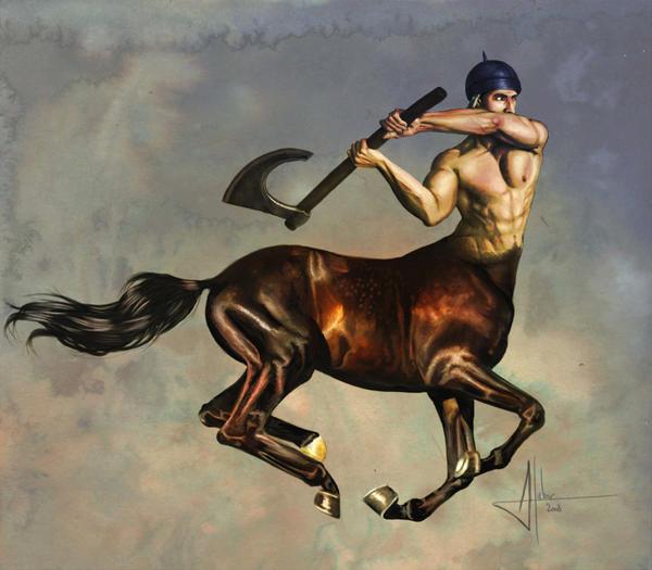 Charging Centaur by AnnickHuber