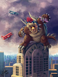 King Bowser Kong by AnnickHuber