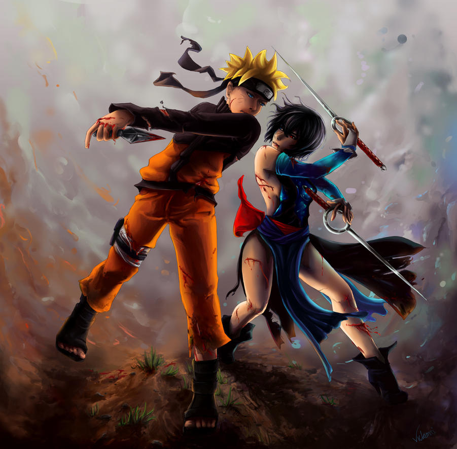 Naruto vs Shiki request by Vickimai