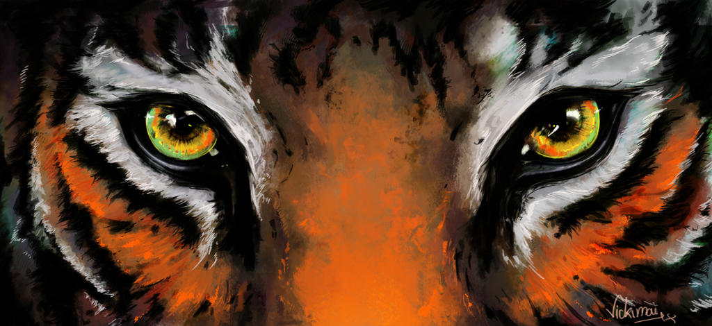 The gallery for --> Angry Tiger Painting Black And White