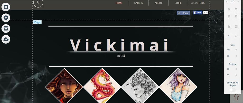 Webpage by Vickimai