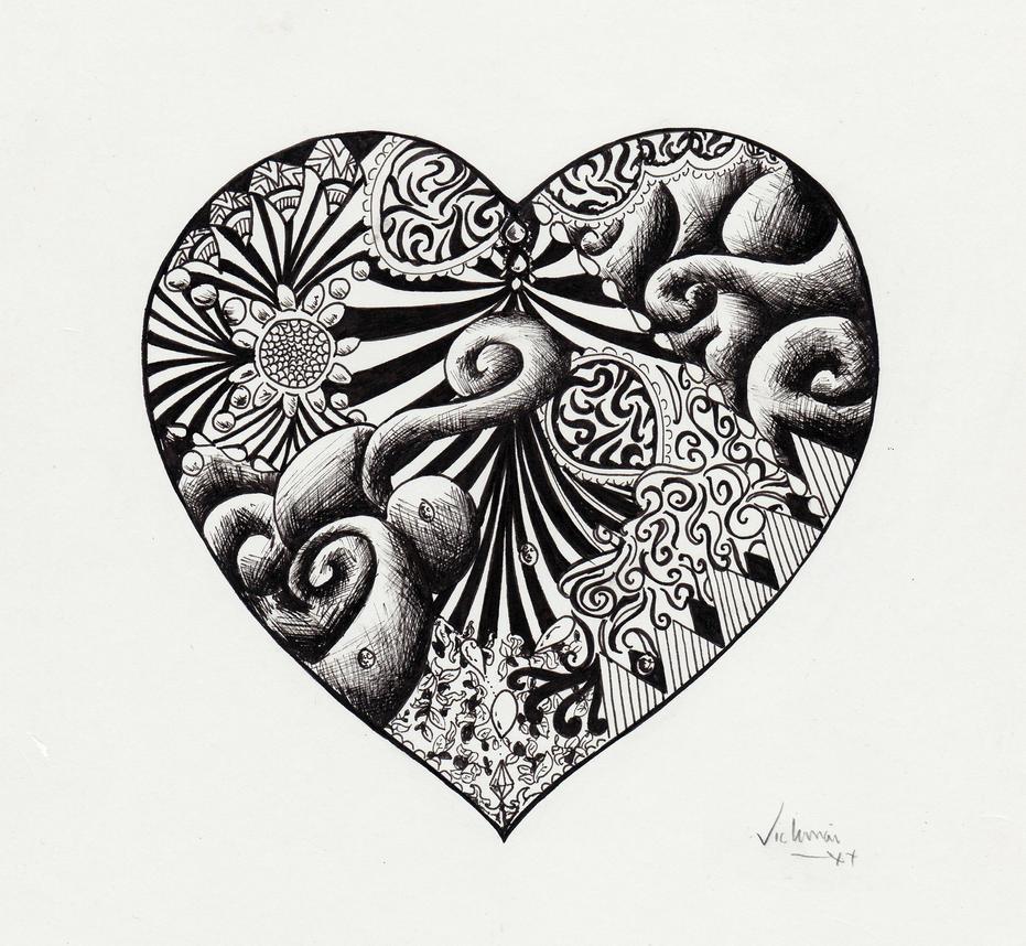 Heart Pattern by Vickimai