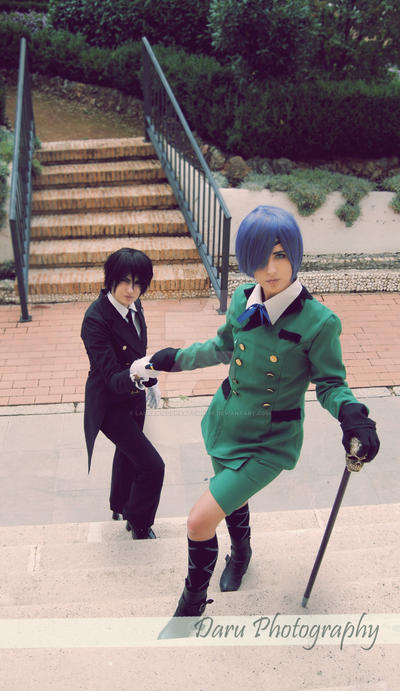 Ciel Phantomhive and Sebastian Michaelis Cosplay by LauraNikoPhantomhive