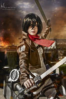 Mikasa Ackerman - SnK Cosplay by LauraNikoPhantomhive
