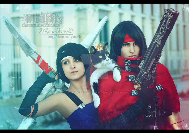 Yuffie - Vincent - Caith Sith by LauraNikoPhantomhive