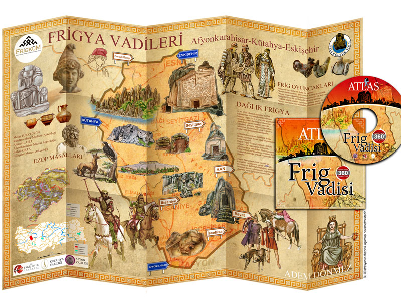 PHRIGIA VALEY ESKISEHIR KUTAHYA AFYON CARTOON MAP by ademdonmez43 on